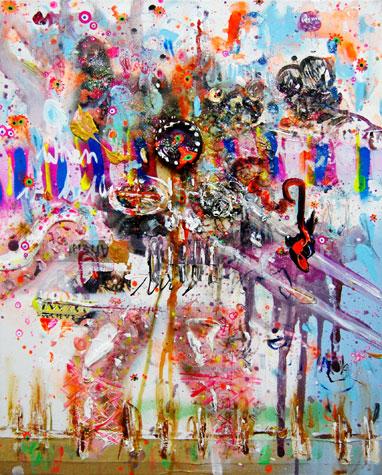 VERRECKT-UND-ZU-GENAEHT,-2010,-mixed-media-on-canvas,-50x40cm